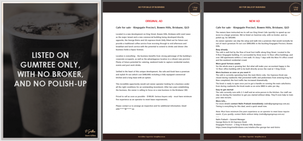 Cafe Ad Preview